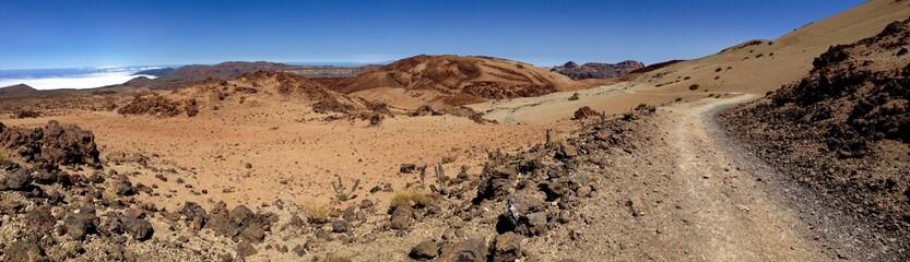 Panoramiczny widok pustyni