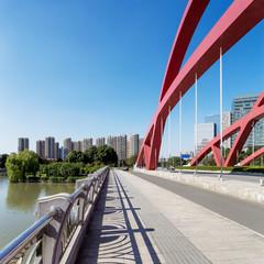 Road bridge of modern city in china