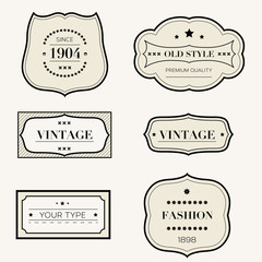 Vector set of vintage retro style labels
