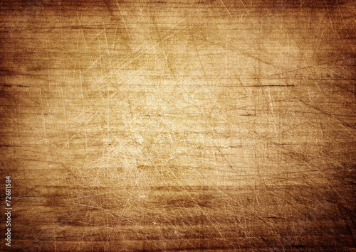 Spoed canvasdoek 2cm dik Hout Dark scratched grunge cutting board.