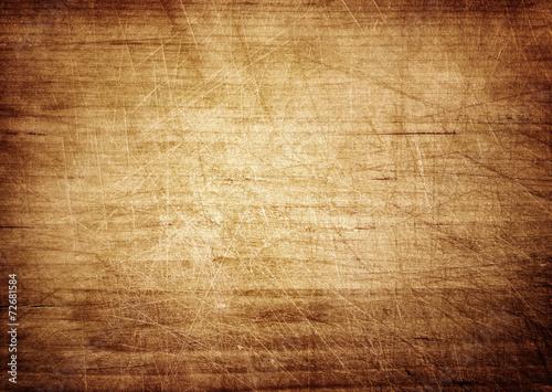 Dark scratched grunge cutting board. - 72681584