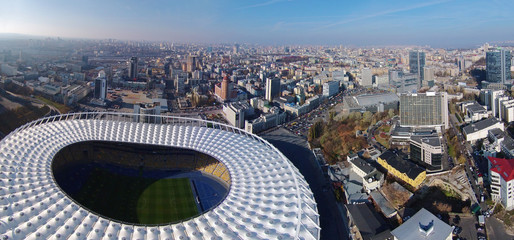 aerial view the Olympic Arena in Kiev, Ukraine