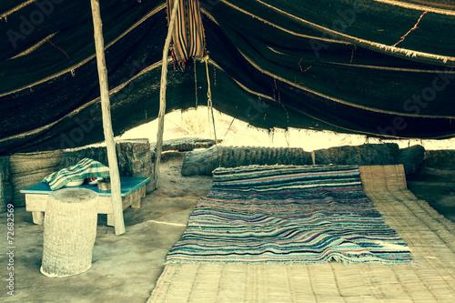 In de dag Tunesië A Berber tent in Matmata, Tunisia