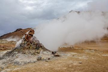 Volcano fumarole in Iceland3