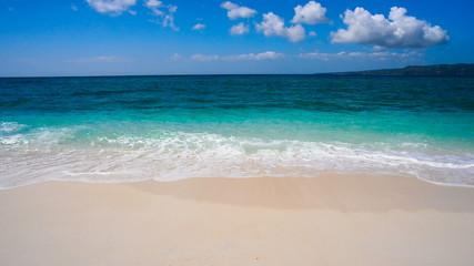 Peaceful beach stock footage