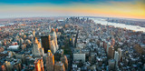 Panoramic view over lower Manhattan New York - 72683753