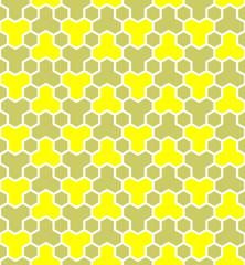 Honeycomb pattern. Seamless geometric hexagons pattern.