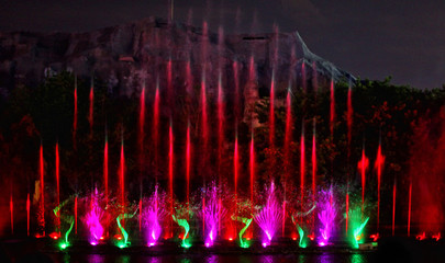 fountain show in Vietnam