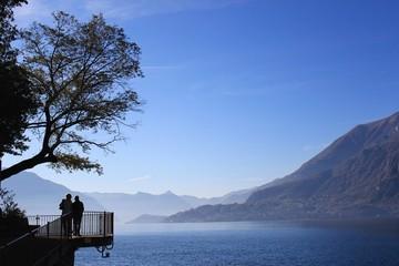 romantic walk at Lake Como