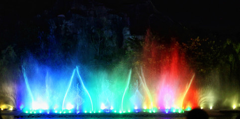 fountain show in Vietnam
