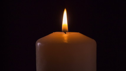 burning candle in the dark, 1080 RAW footage
