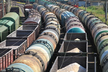 Trains Railroad Junction jammed wagons