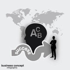 Success concept, business concept