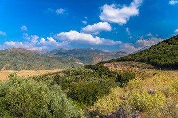 Lanscape of Crete island near Lasithi district