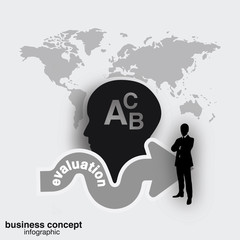 Evaluation concept, businessman concept