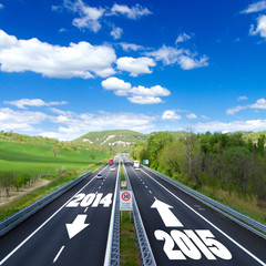 2015, new year on highway