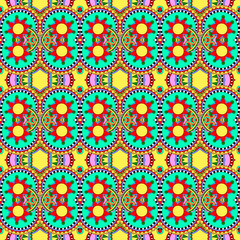 seamless geometry vintage pattern, ethnic style ornament