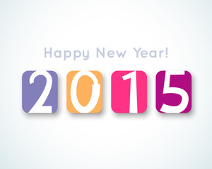 Happy New Year 2015 banner. Vector illustration for holiday