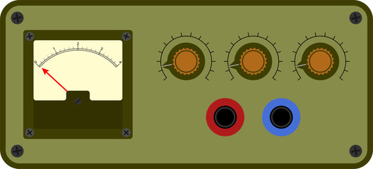 Vector illustration of analogical device control panel