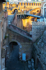 Inside the Castel Sant`Angelo in Rome