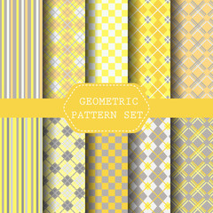 yellow and gray patterns