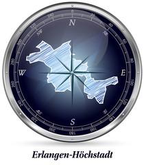 Karte von Erlangen-Hoechstadt