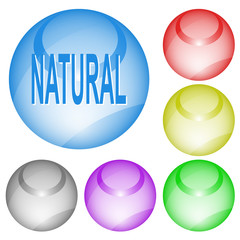 Natural. Vector interface element.