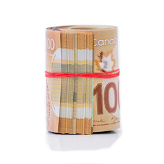 Roll of Canadian dollars