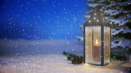 4K VID - Christmas Lantern