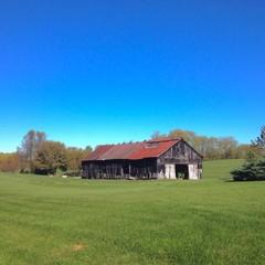 Old barn at countryside