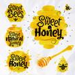 Watercolors symbols honey - 72695332