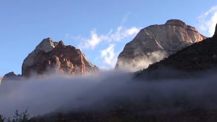 Sunrise at Zion National Park Utah