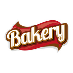 Bakery vector label