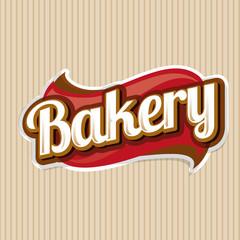 Bakery vector label