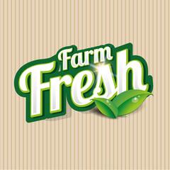 Fresh vector label