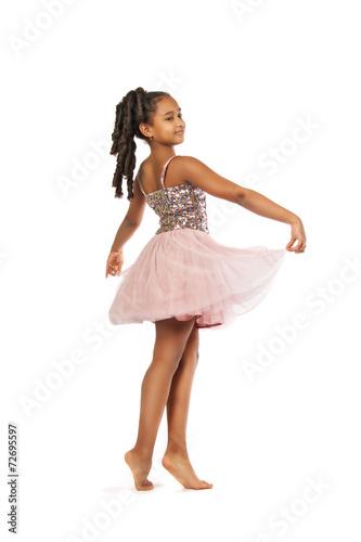 Fotobehang Dans Beautiful little girl dancing
