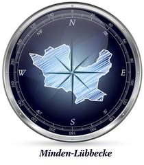 Karte von Minden-Luebbecke