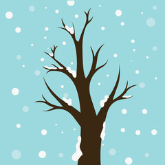 winter trees  concept vector illustration