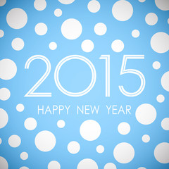 happy new year 2015 in circle pattern blue background