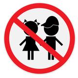 Children, not, allowed, sign
