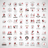 Fototapety Santa Claus Icons And Elements Set - Isolated On Gray