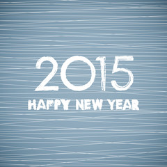 drawing happy new year 2015 and line pattern background