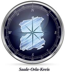Karte von Saale-Orla-Kreis