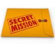 Secret Mission Dossier Yellow Envelope Assignment Job Task
