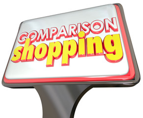 Comparison Shopping Store Sign Customer Advertising Best Price Q