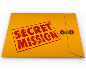 Secret Mission Dossier Yellow Envelope Assignment Job Task