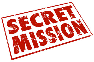 Secret Mission Red Stamp Words Assignment Job Task