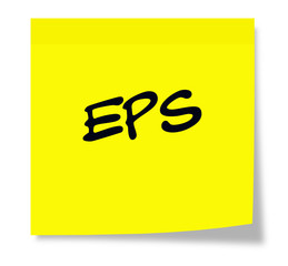 EPS Yellow Sticky Note