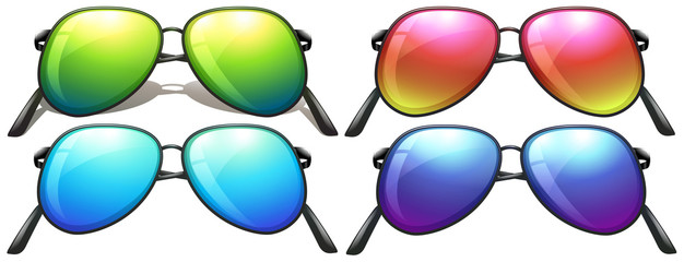 Neon-coloured sunglasses