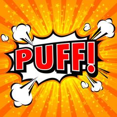 Puff! Comic Speech Bubble, Cartoon.